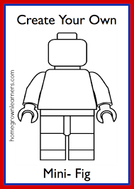 Small Picture Lego Freebies Create Your Own LEGO Mini Figure Printable Lego