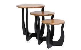 coco nest of 3 tablesin black leg