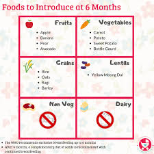 Introducing New Foods To Baby Chart 6 Months Baby Food Chart With Indian Recipes