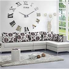 wall mirrors for living room.  Wall Fancy DecorTMSilver Time Letters Roman Numbers Luxury DIY Frameless  Quartz 3D Large Big Mirror Effect Wall Clock Oversized Watches Living Room Dcor  For Mirrors