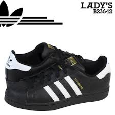 adidas shoes superstar black and white. adidas originals lady\u0027s superstar foundation j sneakers superstar foundation youth b23642 black shoes and white b