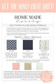 Pattern Mixing Delectable How To Mix Throw Pillows And Patterns With Style Free Printable