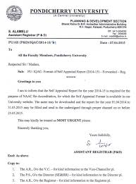 Appraisal Templates Gorgeous Request For Format Of Self Appraisal Report From Faculty Members
