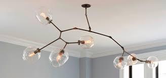 replica 6 arm branching bubble chandelier
