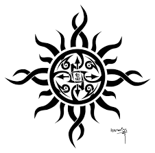 55 Tribal Sun Tattoos Collection