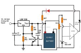 the post explains a 6v, 12v 24v lead acid battery charger circuit 6v battery charger circuit diagram at 12 Volts Battery Charger Circuit Diagram