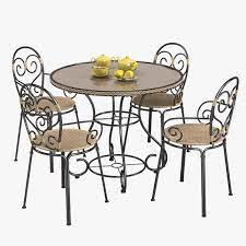 3d outdoor garden furniture set model