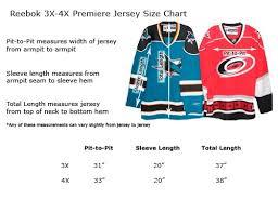 Reebok Nhl Jersey Size Chart Reebok Hockey Jersey Sizing Chart Youth