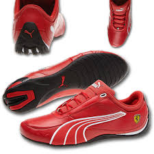 puma ferrari shoes. puma ferrari sf drift cat 4th edition red leather shoes a