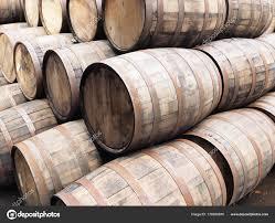 stack wine barrels. Stack Oak Whiskey Barrels Scotland 2017 \u2014 Stock Photo Wine