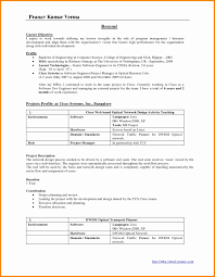 Sample Resume For Project Manager It Software India Prodigous