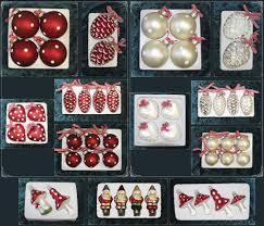 Christbaumschmuck Weihnachtskugeln Figuren Aus Glas Anhänger Baumschmuck Baumbehang Handgefertigt Mundgeblasen Rotweiß Weihnachten