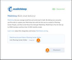 Mailchimp Integration Accounts
