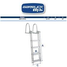 Dock Line Size Chart Garelick Flip Up Aluminum Dock Ladder
