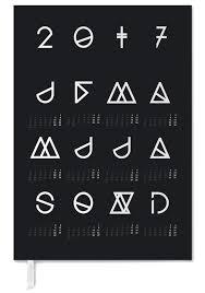 Geometrical Calendar Black As Personal Planner Juniqe