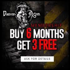 diamond gym guy 6 month membership get 3 months free