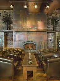 copper wall panels living room