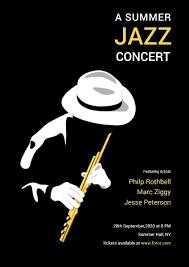 Concert Poster Design Poster Maker Design Summer Jazz Concert Poster Online For