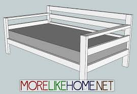 popular of wooden daybed planore like home day 31 build a simple modern sofa