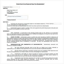 with material construction agreement subcontractor agreement pdf cycling studio