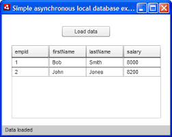 working asynchronously a local sql database developer  this sample application enables you to load data from a database