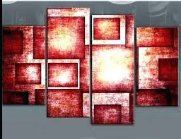 red canvas wall art black and red canvas art red wall art canvas bold rectangles abstract red canvas wall art