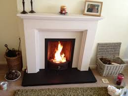 Coal Fire in Limestone Fireplace with Slate Hearth 2, Ainsdale ...