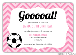 Soccer Party Invite Pink Pattern Girls Soccer Party Invitation