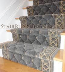 contemporary stair runner installation 3174