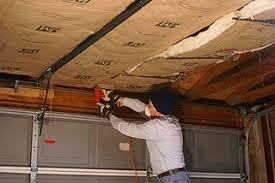 garage ceiling insulation. Wonderful Insulation How To Install KraftFaced Fiberglass Insulation In A Garage Ceiling With  Roof Trusses And R