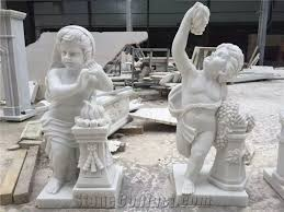 china white marble sculptures natural