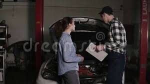automotive repair complaints cute car or automotive technician wearing work robe and a cap is