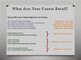 Btec Art And Design Assignments Ppt Btec Level 3 National Diploma In Art And Design