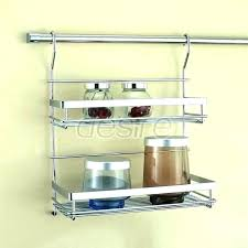 rolling wire rack shelves kitchen wall mounted metal shelving for kitchens