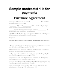 Installment Sales Contracts Horse Sales Contract All About Horses 23