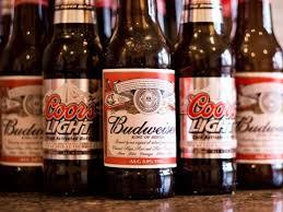 bottles of budweiser and coors light