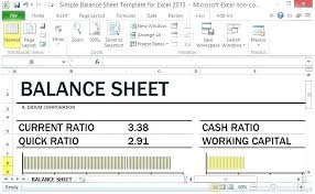 Simple Balance Sheet Excel Simple Balance Sheet Template Free Templates Examples Lab