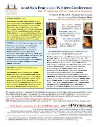 How To Write Flyers 2017 Sfwc Flyer In Pdf San Francisco Writers Conference