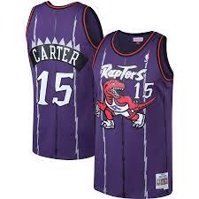 Mitchell amp; Hardwood Jersey - Tall Vince Purple Carter Toronto Big Raptors Classics Ness
