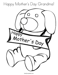 Small Picture Happy Mothers Day Grandma Coloring Page Twisty Noodle