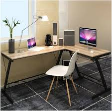 corner desk office. Excel Corner Computer Desk Office Double Workstation (Oak)
