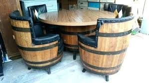 wine barrel furniture for kitchen co bar outdoor sa