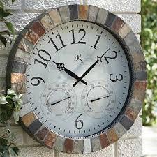 slate mosaic indoor outdoor clock