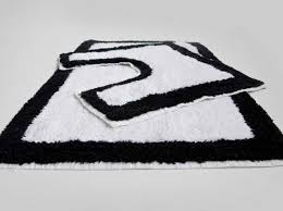 bathroom black and white bathroom rugs sets