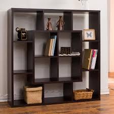 modern bookshelves furniture. furniture of america aydan modern square walnut bookshelfroom divider overstock shopping bookshelves pinterest