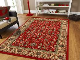 Image Wool Amazoncom Large Persian Rugs For Living Room 8x11 Red Green Beige Cream Area Rugs 8x10