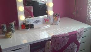 setup makeup table for bedrooms primark height desk chair small target astonishing white bathrooms es depot