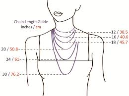 Necklace Chain Length Chart Necklace Chain Length Guide Copper Necklace Necklace