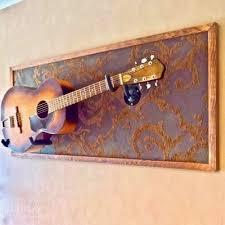 horizontal guitar wall hanger show