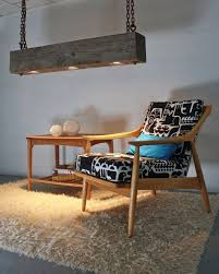 modern rustic lighting. Rustic Industrial Modern Hanging Reclaimed Wood Beam Light Lighting Fixture With LED Lamps And Rusted Chain